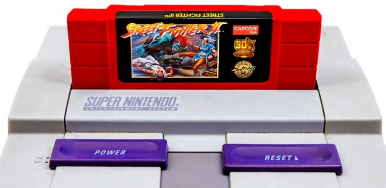 Capcom relanza cartucho para SNES de Street Fighter II.
