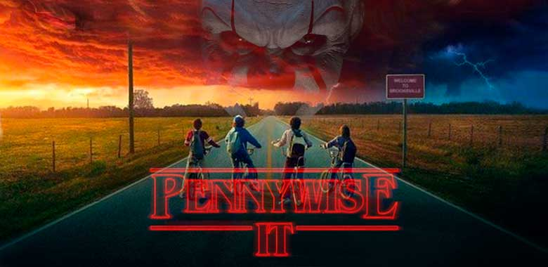 ESO IT el payaso Pennywise en Stranger Things
