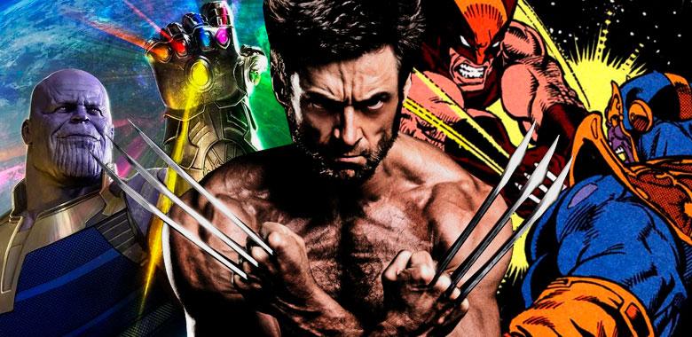 Thanos versus Wolverine como Hugh Jackman