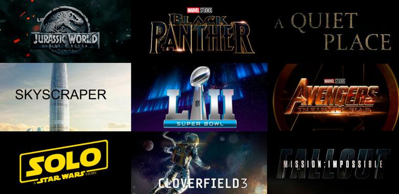 trailers de películas que veremos en el super bowl 2018