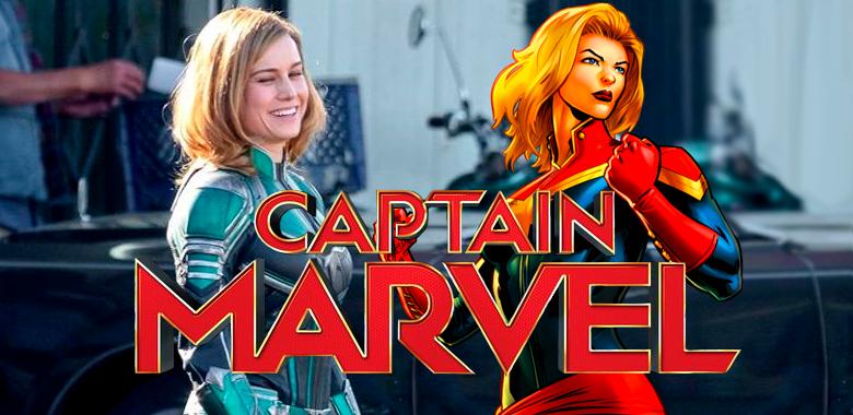 Captain Marvel muestra el traje de Brie Larson